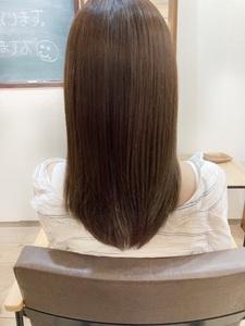 黒染めの残っている髪の毛をアッシュ系に☆before&afterあり